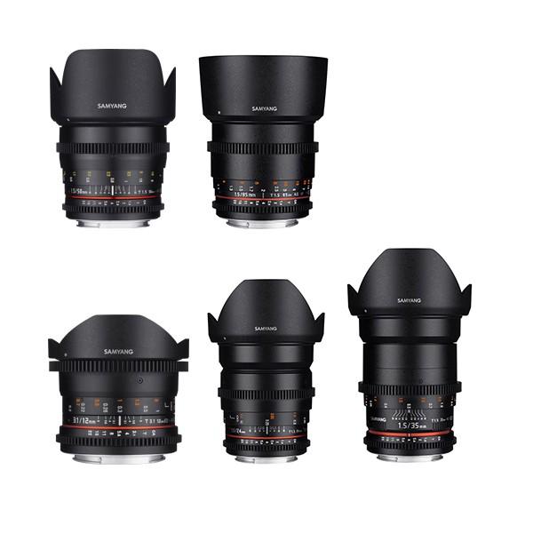 Samyang Video Primes EF or Sony E Mount Set x5 Lenses